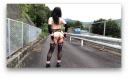 【女装】穴婢堕021 高速の側道で露出プレイ
